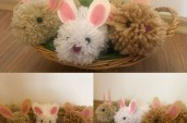 Kája J.: Baby animals are born in spring... We made little woolen rabbits.  Happy Easter!